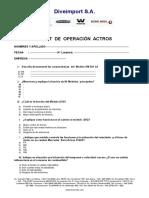Exámen Actros III