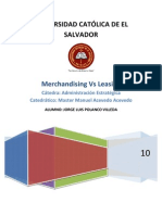 Merchandising Vs Leasing