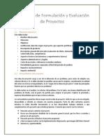 Modelo de La Estructura de Formulación y Evaluación de Proyectos