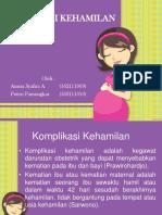 komplikasi kehamilan