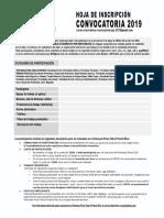 Hoja - Inscripción Convocatoria Opc 2019