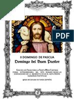 GUÍA DE LOS FIELES PARA LA SANTA MISA CANTADA.  II domingo de Pascua. Kyrial De Angelis