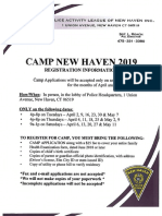 2019 PAL Camp Application
