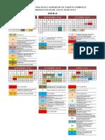 CALENDARIO-2018-2019 Por Semestre y Actividades