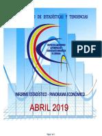 Panorama Economico Abril 2019, según el Centro de Almaceneros de Córdoba
