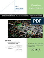 Laboratorio 12 Amplificador de Potencia Clase Ab