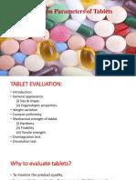 Evalutation Parameter of Tablets