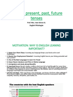 Review Present Past and Future Tenses 1