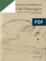 2526- Mahmoud Darwich - Le Lit de Letrangere_2
