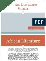 African Literatures Ghana. Ecal2222