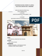 Análisis Arquitectónico Del Estilo Barroco Lima -Cuzco