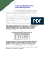 Inversión en educación en Lima Metropolitana
