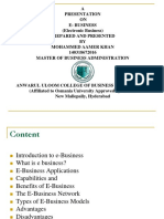 Mba e Business Ppt