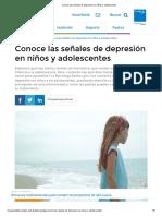 Conoce Las Señales de Depresión en Niños y Adolescentes