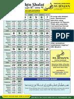 Jadwal Waktu Shalat Ramadhan 1440