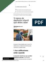 13 Signos de Depresión Infantil Que Debes Saber – Revista Selecciones México