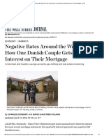 Negative Rates Around the World How One Danish Couple Gets Paid Interest on Their Mortgage - Wsj