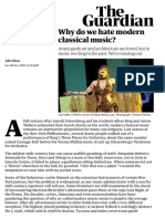 Why do we hate modern classical music? | Alex Ross | Music | The Guardian