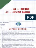 4.2 Covalent Bonding