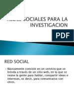 Redes Sociales Para La Investigacion