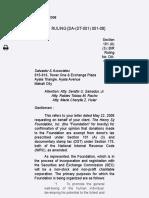 BIR Ruling [DA-(DT-001) 001-08]