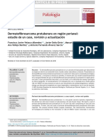 Dermatofibrosarcoma Protuberans en Región Perianal Estudio Caso Rev Actual