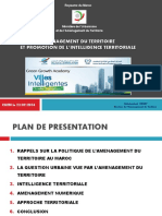 AMENAGEMENT DU TERRITOIRE ET PROMOTION DE L'INTELLIGENCE TERRITORIALE