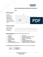 Formulario Suspension Beneficios 2019