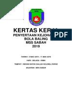 Kertas Kerja Bola Baling Negeri 2019
