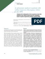 Análisis de La Marcha y La Postura en Pacientes Con Discrepancia Transversal Maxilar, Antes y Después Del EPR.