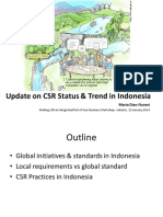 Update on CSR Status and Trends in Indonesia