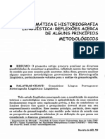 GRAMÁTICA E HISTORIOGRAFIA