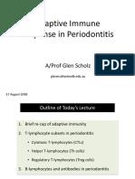 Adaptive Immune Response in Periodontitis