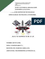 Transmisiones Automaticas Cuestionario 1