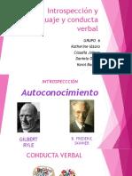 Introspección y Lenguaje y Conducta Verbal