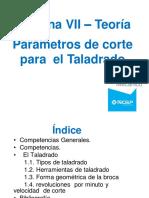 Teoría Sesión 4 - Parámetros de Corte Taladrado