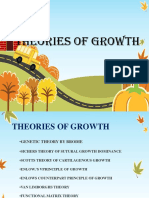 Theories of Growth for 3rd Year