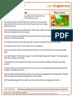 Short Stories Jack and the Beanstalk Transcript