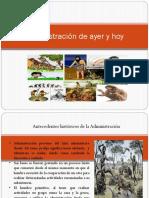 Administracion Del Ayer y HoY
