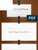 Tips in Legal Writing
