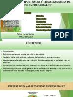 Evidencia 4  Presentación Importancia y transcendencia de los valores