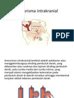 Aneurisma intrakranial ppt