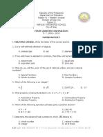 math 7 1st
