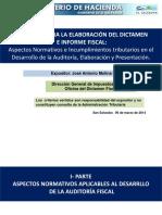 Aspectos Normativos e Incumplimientos en La Elaboración y Presentación Del Dictamen e Informe Fiscal