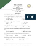 math 9 1st