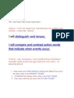 verb tenses  22past present future 22 sle 6-2