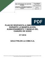 SSYMA-PR03.10 Plan de Respuesta a Emergencias Manipulacion Almacenamiento Manejo Cianuro V6