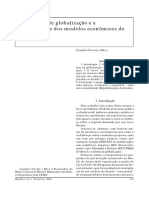 O processo de globalização e a instabilidade dos modelos econômicos de Estado