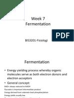 Week 7 Fermentation