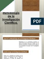 La Metodología de La Investigación Científica TANIAAAAAAAA